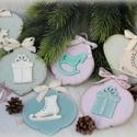 Vintage-pasztell karácsonyfa díszek, A pasztell színek, és a vintage kedvelői fognak...