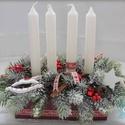 Merry little Christmas-asztaldísz, Dekoráció, Otthon, lakberendezés, Ünnepi dekoráció, Karácsonyi, adventi apróságok, Ismét egy nosztalgikus darab a régi szép idők karácsonyainak emlékére., Meska