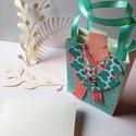 Egyedi, kisméretű papír ajándéktáska - Sál, Karácsonyi, adventi apróságok, Esküvő, Meghívó, ültetőkártya, köszönőajándék, Papírművészet, Pénzzel, vagy ajándékkártyával szeretnéd meglepni szeretteid? Esetleg a névjegykártyádat szeretnéd ..., Meska