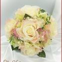 Hamvas barack rózsa Örök-csokor 5 virágos , Dekoráció, Anyák napja, Esküvő, Csokor, Hamvas barack rózsa Örök-csokor 5 virágos 235445. Átmérője: 20cm Magassága: 20cm Más színdíszítéssel..., Meska