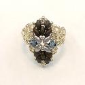 Gyűrű, karkötő szett, Ékszer, Gyűrű, Karkötő, Ékszerkészítés, Gyöngyfűzés, A szett tartalmaz egy minőségi cseh-,  japán-, és swarovski gyöngyökből készült gyűrűt és egy karkö..., Meska