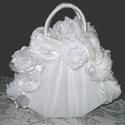 Flower handbag-virágtáska nemcsak esküvőre, Esküvő, Esküvői csokor, Esküvői dekoráció, , Meska