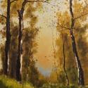 Őszi erdő olajfestmény 20 x 30 cm , Képzőművészet, Festmény, Olajfestmény, Festészet, Őszi erdő olajfestmény  mérete 20 x 30 cm  hordozó : farost lemez  , Meska