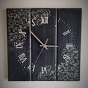 Falióra - fekete idő, Otthon, lakberendezés, Konyhafelszerelés, Dekoráció, Falióra, óra,  Az óra csendes járású óraszerkezetet tartalmaz. A felfogatásához egy darab kampó van a hát..., Meska