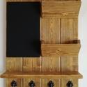 Kulcstartó - wood, Mindenmás, Dekoráció, Otthon, lakberendezés, Kulcstartó, A C  új csiszolt fából van készítve, majd ökológiai lakkal lakkozva.  Tartalmaz felíró táblát, póstá..., Meska