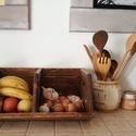 Gyümölcs és zöldség tároló, Otthon, lakberendezés, Konyhafelszerelés, Tárolóeszköz, Doboz, Famegmunkálás, A tároló új csiszolt fából van készítve, majd ökológiai lakkal lakkozva. Nagyon praktikus ez a kony..., Meska