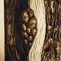 Korlátozva, Képzőművészet, Otthon, lakberendezés, Textil, Falikép, Szobrászat, Mindenmás, Alapozott festőkartonon paverpol textil dombormű. Mérete 40*50 cm. Személyes életélmény ihlette. Íg..., Meska
