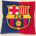 FC Barcelona párna, Férfiaknak, Otthon, lakberendezés, Focirajongóknak, Lakástextil, Varrás, Patchwork, foltvarrás,  Barcelona rajongóknak készült párna. mérete:40/40cm  Töltet poliésztergolyók, ami jó tartást bizto..., Meska