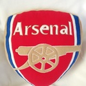 Arsenal logó alakú párna, Arsenal focirajongóknak készült párna!   Mére...
