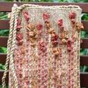 Gyapjúszőnyeg Tarisznya T30, Barna színű gyapjútarisznya, többszínű pamut...