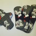 Cuki kutyusos mosható női betét csomag, Baba-mama-gyerek, Baba-mama kellék, 3 db-ból álló cuki kutyusos mosható női betét csomag: 1. 18 cm nedvességzárós tisztasági b..., Meska