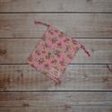 Rózsaszín alapon eper mintás zsákocska, Baba-mama-gyerek, Baba-mama kellék, 9 x 11 cm méretű zsákocska pl. mosható arctisztító korong, vagy intimkehely tárolására., Meska