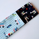 2 db-os kisfiú textil zsebkendő szett, JÁRMŰVES + LÁMÁS, Gyerek & játék, Baba-mama kellék, 2 db-os járműves, valamint lámás textil zsebkendő szett, kisfiúknak. Anyaguk: puha pamutflanel Méret..., Meska