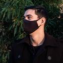 Fekete férfi / női kétrétegű, mosható szájmaszk, Pamutvászonból készült szájmaszk, mely kialak...