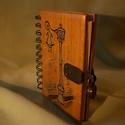 Tölgyfa kis napló , Egyedileg tervezett és készített fa fedeles nap...