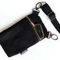 Variálható telefon kistáska 3in1, fekete, Táska & Tok, Övtáska, Varrás, Néha kell egy extra zseb, amibe a telefont, kulcsot, kártyákat rakhatod? Ez a variálható kistáska p..., Meska