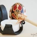 Íróka (gica, kandé, kesice) - hímes tojás készítéséhez + leírás, Mindenmás, Húsvéti díszek, Csináld magad leírások, Hímes tojás írására használható íróka, rézlemezből hajlított. Vékonyan ír, a minták m..., Meska