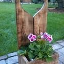 Virágtartó, Szivecskés virágtartó, Otthon, lakberendezés, Kaspó, virágtartó, váza, korsó, cserép, Rusztikus virágtartó Szív motívummal. A képen látható virágtartó hátfala 80cm magas. A virágtartó do..., Meska