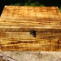 """Doboz, rusztikus faládikó, """"Vintage"""" stílusú kis fa ládikó.  A fa textúr..."""