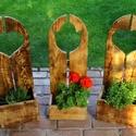 Virágtartó, Szivecskés virágtartó, Otthon, lakberendezés, Kaspó, virágtartó, váza, korsó, cserép, Rusztikus virágtartó Szív motívummal. A képen látható virágtartó hátfala 80cm magas. A vir..., Meska