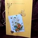 Sárga-arany virágos, Naptár, képeslap, album, Képeslap, levélpapír, Papírművészet, Az egyedi képeslapok színes, vidám, vagy visszafogottan elegáns üzenethordozók. Kifejezhetjük velük..., Meska