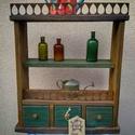 Mesés rusztikus polc vagy szekrényke, Bútor, Otthon, lakberendezés, Polc, Szekrény, Íme itt a legújabb mesés rusztikus polc vagy szekrényke! 3 fiók, dekoratív fémdíszítés. ??..., Meska