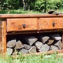 Tűzifa tároló, tv tartó , Bútor, Mindenmás, Otthon, lakberendezés, Férfiaknak, Nem mindig stílusos és praktikus a kandalló melletti tűzifa és gyújtós tárolása. Itt egy alternatíva..., Meska