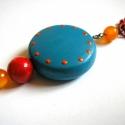 \'Cuppantott\' medál - kék-narancs-piros (toritextil) - Meska.hu