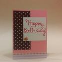 Lányos szülinapi kártya, Naptár, képeslap, album, Ajándékkísérő, Papírművészet, Sziasztok!  A képen látható lányos születésnapi üdvözlőkártyát kínálom eladásra nektek. A terméket ..., Meska