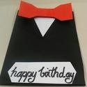 Üdvözlőkártya férfiaknak, Naptár, képeslap, album, Férfiaknak, Ajándékkísérő, Vőlegényes, Papírművészet, Elegáns, férfiaknak szánt üdvözlőkártya. A felirat a képen születésnapra szól, de ez lehet akár bal..., Meska