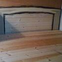 Ágy retro szemlélettel, Bútor, Ágy, Minden elemében  tiszta fa felhasználásával készült, ágyneműtartós ágy.  Magasságával, k..., Meska