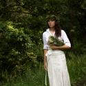 Csipke csoda, Ruha, divat, cipő, Esküvő, Esküvői ruha, Menyasszonyi ruha, Varrás, Hosszú egyenes vonalú szoknyát a magasított derékrész teszi még nőiesebbé, mely karcsúbbá varázsolj..., Meska