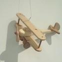 Repülő , Játék, Fajáték, Repülő, mérete 22x20x8cm  Kerekek és propeller forgatható. Parafin olajal kezelve. Páva Védjegyes. K..., Meska