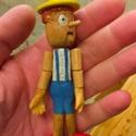 """Pinokkió , Játék, Báb, Fajáték, Játékfigura, Fából készült pinokkió, kezei mozognak.feje fordul. Ha """"hazudik"""" az orra kihúzható nagyobbra. Mérete..., Meska"""