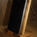Telefontartó, Férfiaknak, Otthon, lakberendezés, Telefontartó tölgyfa felhasználásával, olajozott. Méretei: magasság: 14 cm, szélesség: 8 cm..., Meska