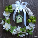 Tavaszi vidámság ajtódísz, kopogtató ajándék,koszorú,zöld, Egy kis tavaszi vidámság , a hosszú tél után....