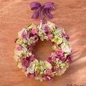 Hortenziával díszített husvéti ajtódísz, kopogtató, Egyik kedvenc koszorúm, húsvétra készítettem....