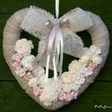 Ajtódísz,kopogtató,, faldísz ,esküvő,anyáknapja, Esküvőre anyák napjára készült ez a ming ró...