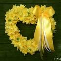 Ajtódísz,kopogtató,, faldísz ,esküvő,anyáknapja,tavasz, Igazi napsütés!  Nagyon sok nárcisz és sárga ...