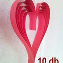 Piros szív akasztóval, 10 darab - esküvői, Valentin napi vagy születésnapi parti dekoráció, Dekoráció, Esküvő, Szerelmeseknek, Esküvői dekoráció, Papírművészet, Piros színű kartonból készült szív alakú díszek, melyek nagyon jól mutatnak egy esküvő vagy Valenti..., Meska