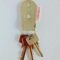 Tűzoltó tömlő újrahasznosított kulcstartó kulcskarika nem csak tűzoltóknak férjeknek férfiaknak, Férfiaknak, Mindenmás, Kulcstartó, REfirehose - a történet folytatódik...  Tűzoltó tömlőből újrahasznosított kulcstartó. Nikkelezett sz..., Meska