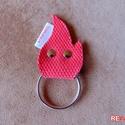 Tűzoltó tömlő kulcstartó újrahasznosított tömlőből vidám piros láng alakú garázsnyitó kapunyitó kulcs tartó - TŰZMANÓ, Férfiaknak, Mindenmás, Kulcstartó, Szuper egyedi, gondosan megtervezett és kivitelezett piros színű, láng alakú Tűzmanó kulcstar..., Meska