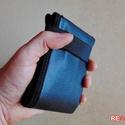 Fekete férfi pénztárca tűzoltó tömlőből bankkártya névjegy irattartó tárca hasznos ajándék férfiaknak  - FLORIAN BLACK, Férfiaknak, Táska, Pénztárca, tok, tárca, Pénztárca, Varrás, Újrahasznosított alapanyagból készült termékek, Szuper egyedi, gondosan megtervezett és kivitelezett férfi pénztárca strapabíró tűzoltó tömlőből, a..., Meska