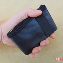 Fekete férfi pénztárca tűzoltó tömlőből bankkártya névjegy irattartó hasznos és praktikus ajándék férfiaknak férjeknek, Férfiaknak, Táska, Pénztárca, tok, tárca, Pénztárca, Varrás, Újrahasznosított alapanyagból készült termékek, FLORIAN BLACK  Szuper egyedi, gondosan megtervezett és kivitelezett férfi pénztárca strapabíró tűzo..., Meska