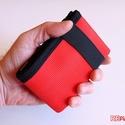 Piros pénztárca strapabíró tűzoltó tömlőből bankkártya névjegy irattartó hasznos praktikus ajándék nem csak férfiaknak, Szuper egyedi, gondosan megtervezett és kivitelez...