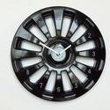Autó kerék dísztárcsa fali óra fekete színű falióra frappáns ajándék férfiaknak férjeknek autósoknak sofőröknek, Fekete színű dísztárcsából készült faliór...