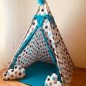Óriás kék csillag indián sátor - Tipi, Baba-mama-gyerek, Gyerekszoba, Gyerekbútor, A gyerekek imádnak kuckózni, sátrat építeni.  Ha meguntad a pokrócokból épített bunkert a nappali kö..., Meska