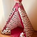Óriás pink csillag indián sátor - Tipi, Baba-mama-gyerek, Gyerekszoba, Gyerekbútor, Varrás, A gyerekek imádnak kuckózni, sátrat építeni.  Ha meguntad a pokrócokból épített bunkert a nappali k..., Meska