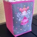 Pink tündér- Asztali tároló, pelenkatartó babaszobába, Baba-mama-gyerek, Baba-mama kellék, Gyerekszoba, Tárolóeszköz - gyerekszobába, Nagyon hasznos termék a pelenkázó asztalnál, hiszen akár 15 db pelenka tárolására is kiválóan alkalm..., Meska