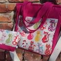 Pink cicás női táska, Táska, Baba-mama-gyerek, Ruha, divat, cipő, Válltáska, oldaltáska, Varrás, Igazi nagybetűs NYÁR!!! Színek, vidámság, jókedv!  Kipróbáltam az új táskánkat!  Jelentem: nagyon s..., Meska